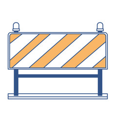 traffic barrier flat icon in color sections vector image