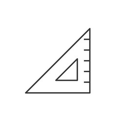 Triangular ruler line icon vector