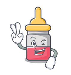 Two finger nassal drop character cartoon vector