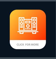 woofer loud speaker music mobile app button vector image