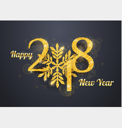 2018 happy new year background vector