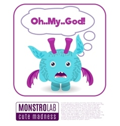 a monster saying omg vector image vector image