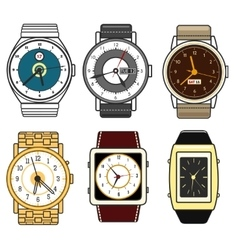 Color watches set vector image vector image