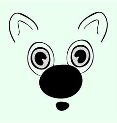 cute animal head funny cartoo vector image vector image