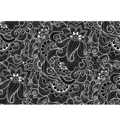 Decorative natural seamless pattern Zen-tagle vector image vector image