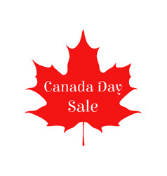 happy canada day sale card vector image vector image