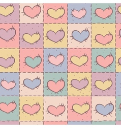 Seamless pattern with patchwork vector image