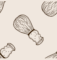 shaving brush seamless pattern engraving vector image vector image