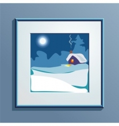 winter picture vector image