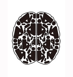 abstract top view of human brain vector image vector image