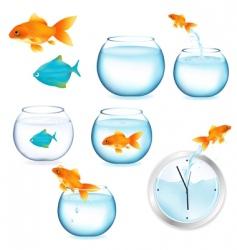 Fish and aquariums vector