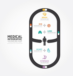 infographics medical capsule design vector image vector image