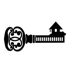 Key simple icon vector image vector image