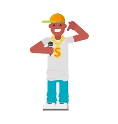 Rapper character vector image