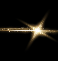 shining star with a stardust golden color vector image vector image