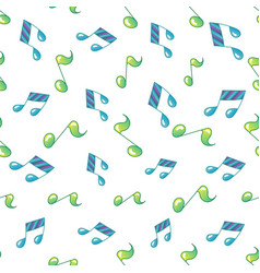 simple music note background seamless pattern vector image