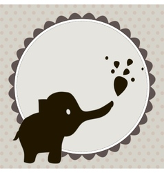 Smart card with an elephant vector image vector image