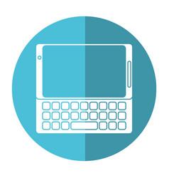 smartphone mobile technology keyboard image vector image
