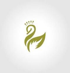Swan logo beauty spa vector