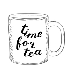 Time for tea Brush hand lettering vector image vector image