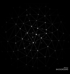 white molecule on black background vector image