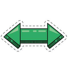 cartoon green arrow digital orientation vector image vector image