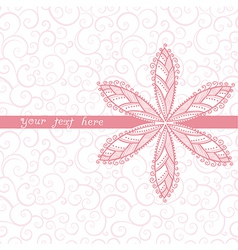 Floral greeting card with place for your text and vector image
