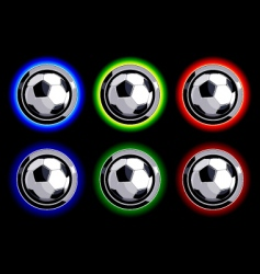 soccer buttons vector image