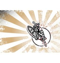 biker poster vector image