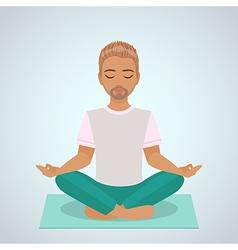 boy yoga vector image vector image