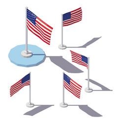 isometric united states flag vector image