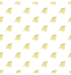 Newspaper pattern cartoon style vector image