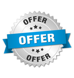 offer round isolated silver badge vector image
