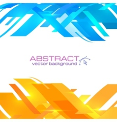 Abstract blue and orange background vector image