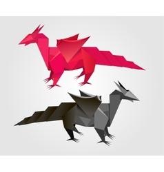 abstract Origami dragon vector image