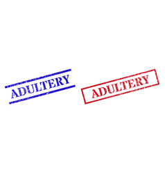 Adultery textured rubber seal stamps vector