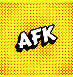 afk acronym background vector image
