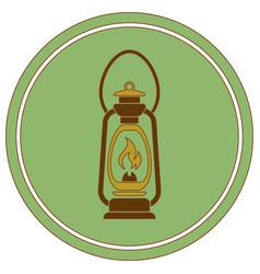 antique old kerosene lamp isolated retro design vector image