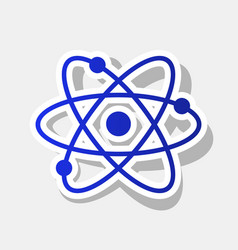 Atom sign new year bluish vector