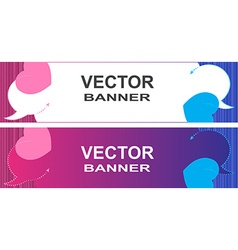 banner with bubbles for a chat on a pink and blue vector image