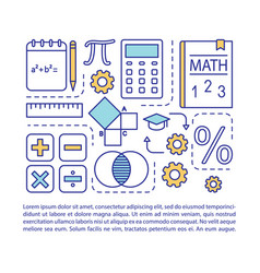 Basic maths lessons article page vector