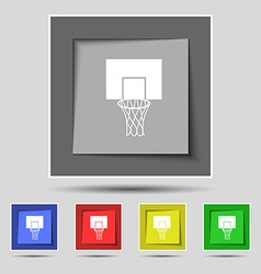 Basketball backboard icon sign on original five vector