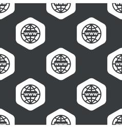 Black hexagon global network pattern vector