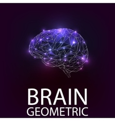 Brain geometric shapes vector