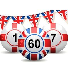 British Bingo Balls vector