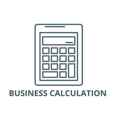 business calculation line icon business vector image