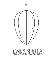 carambola icon outline style vector image