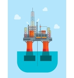Cartoon Oil Platform vector image