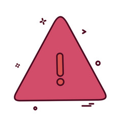 caution icon design vector image