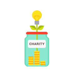 Charity abstract box colorful vector